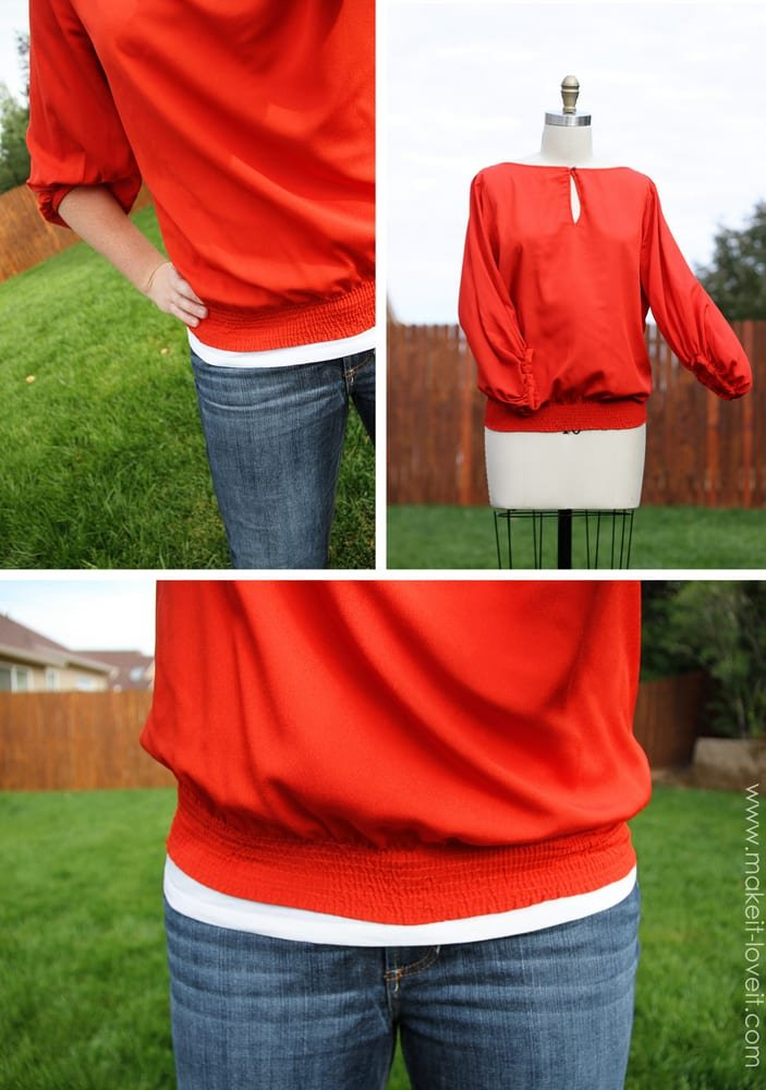 Give a shapeless top some life: add a shirred band