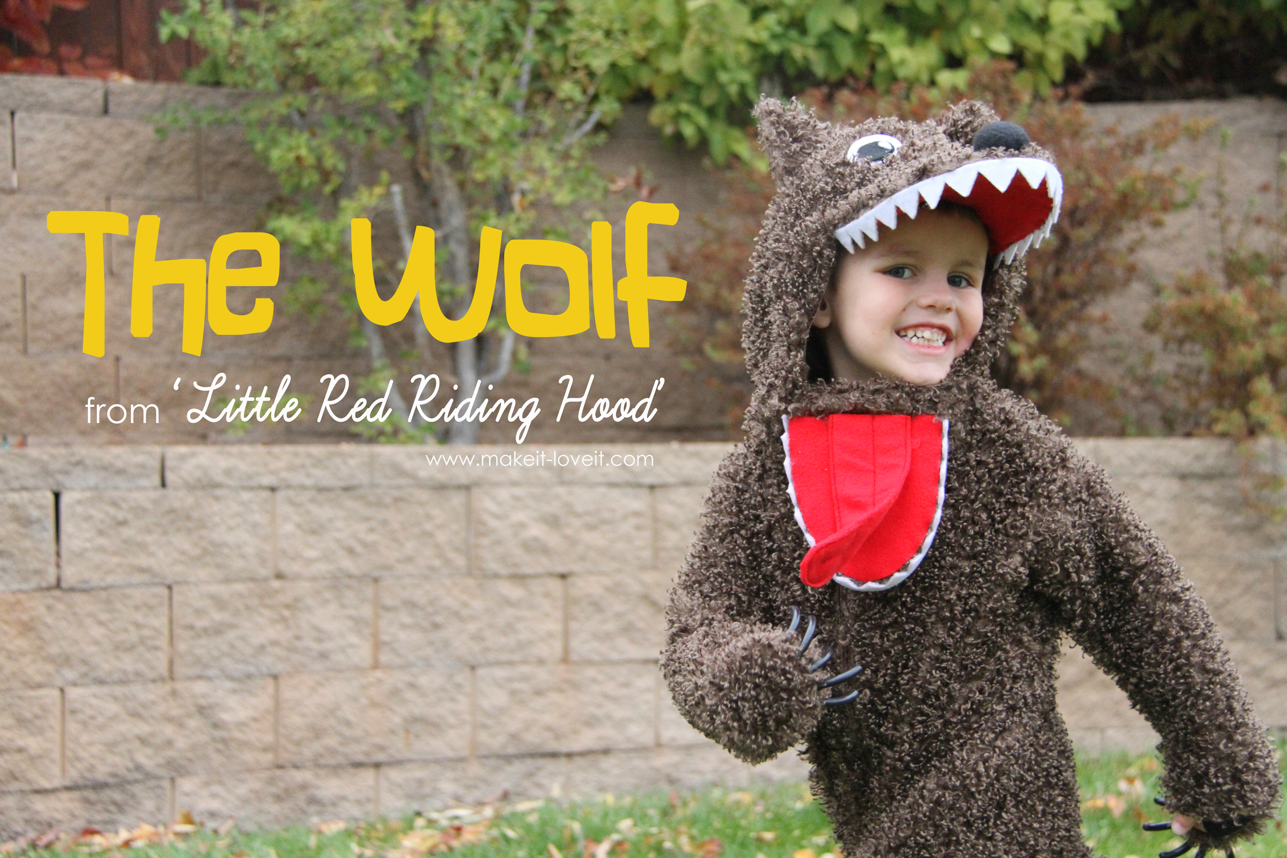 Halloween costumes 2012: the wolf (from 'little red riding hood')