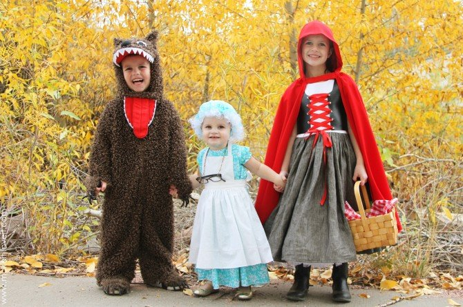 """The whole """"red riding hood"""" crew!!"""