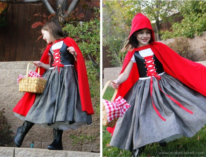 Halloween costumes 2012: little red riding hood :)