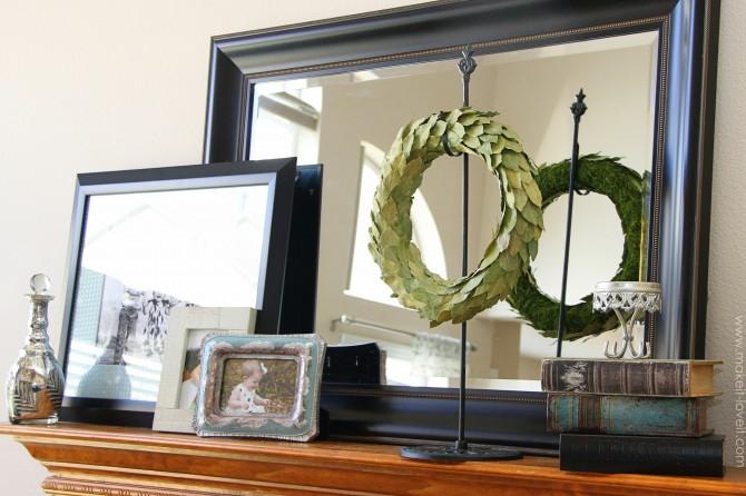 Bay leaf wreath (year round decor)