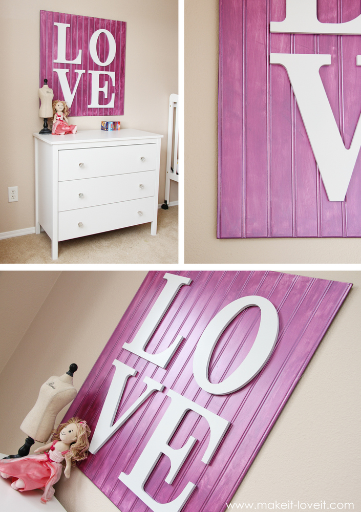 Wall decor wooden love sign make it and love it for Decor you adore facebook