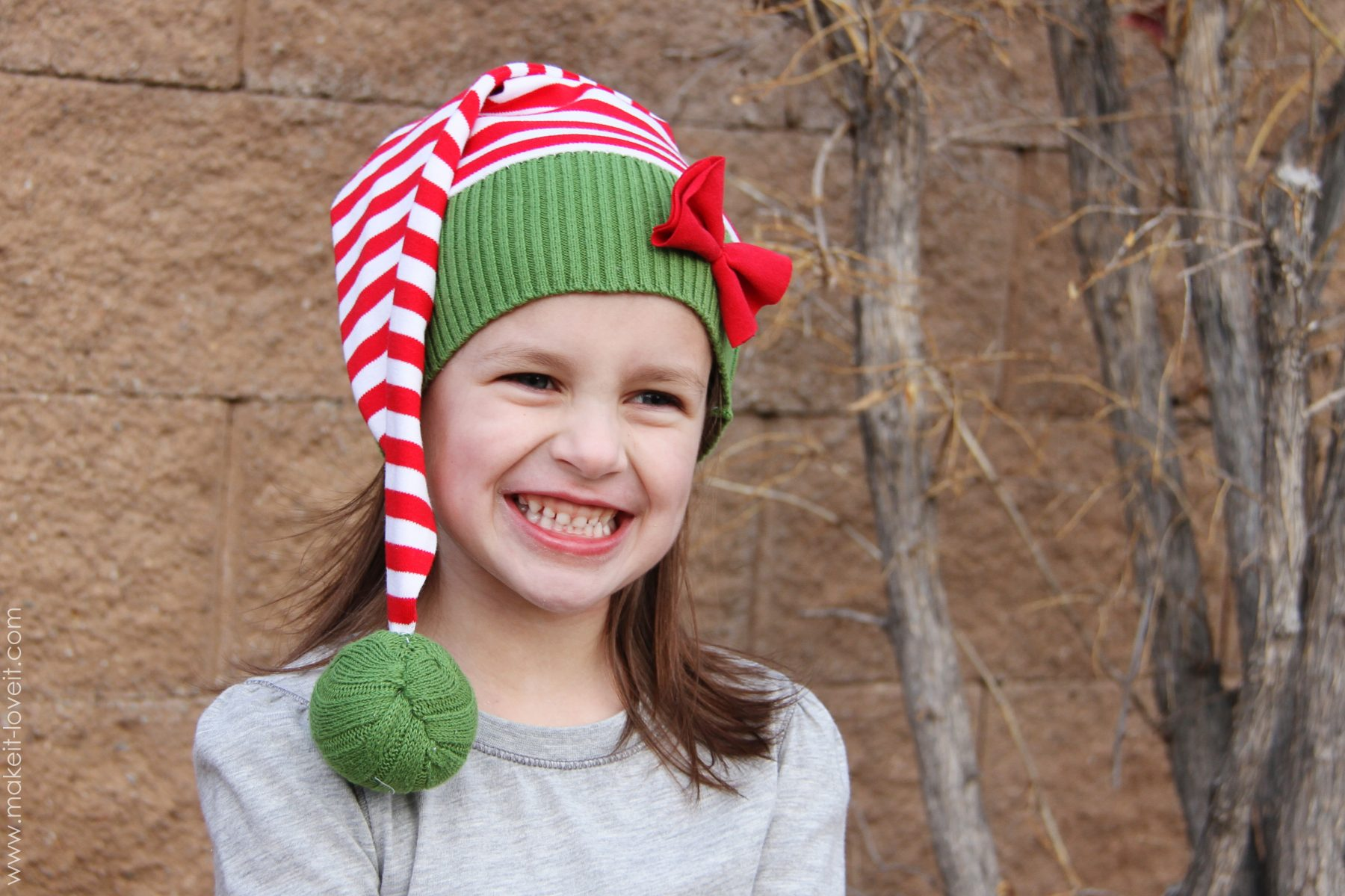 snowman reindeer elf christmas hats made from old sweaters make