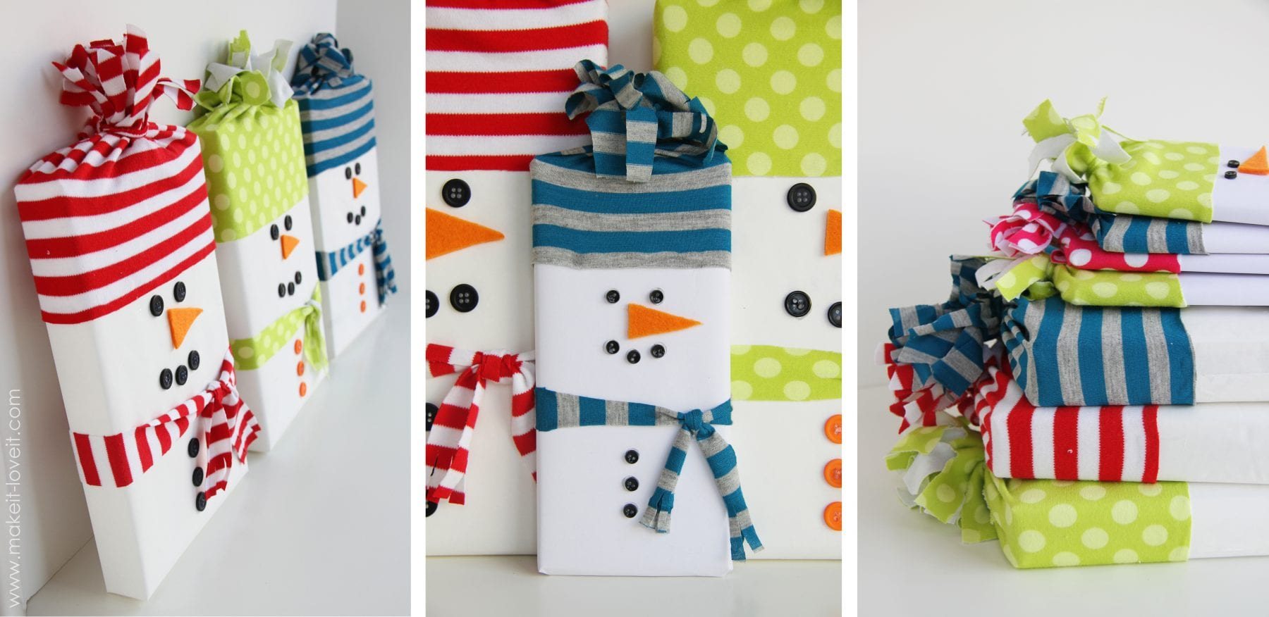 Snowman wrapped candy gifts make it and love it - Ideas para decorar en navidad ...