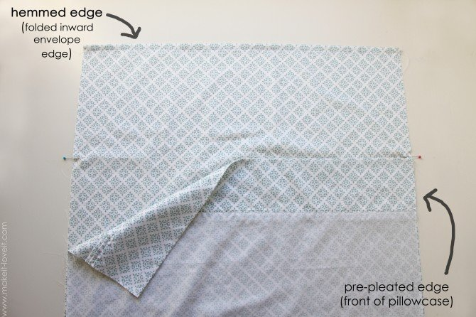 How To Make A Pillowcase Out Of Flat Sheet