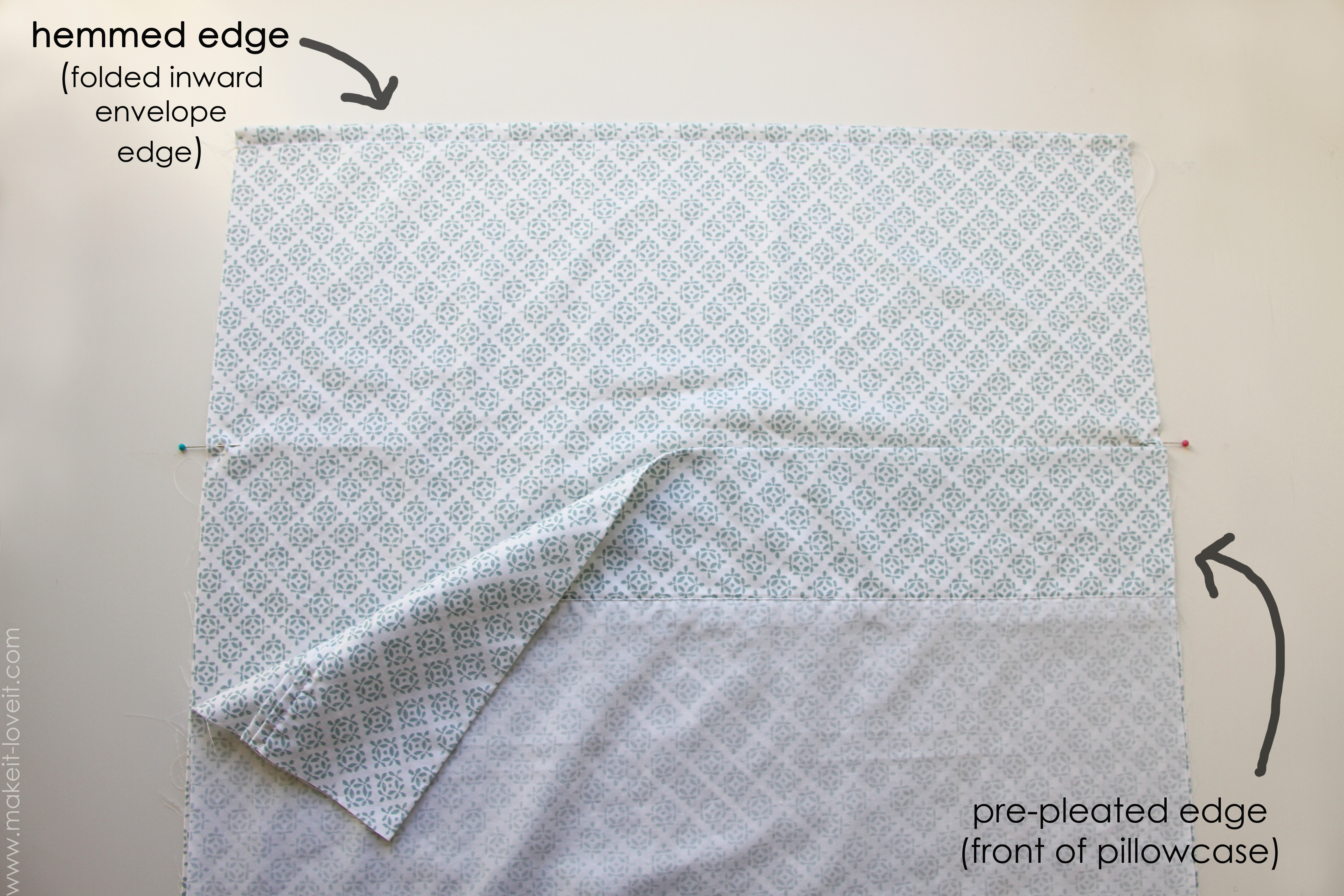 How To Make An Envalope Style Pillowcase Flap Keeps