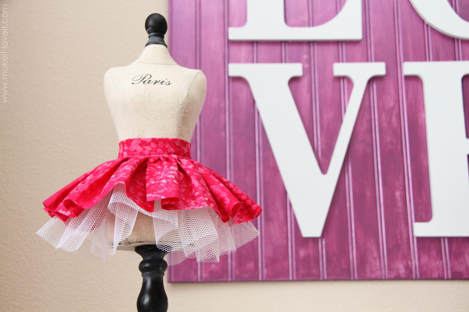 how to make doll tulle skirt