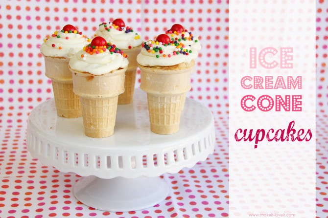 Ice cream cone cupcakes…..yum!