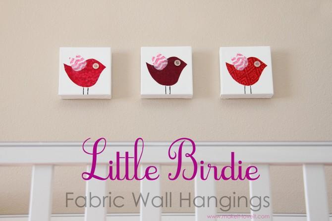 Little birdie wall hangings (plus free template)