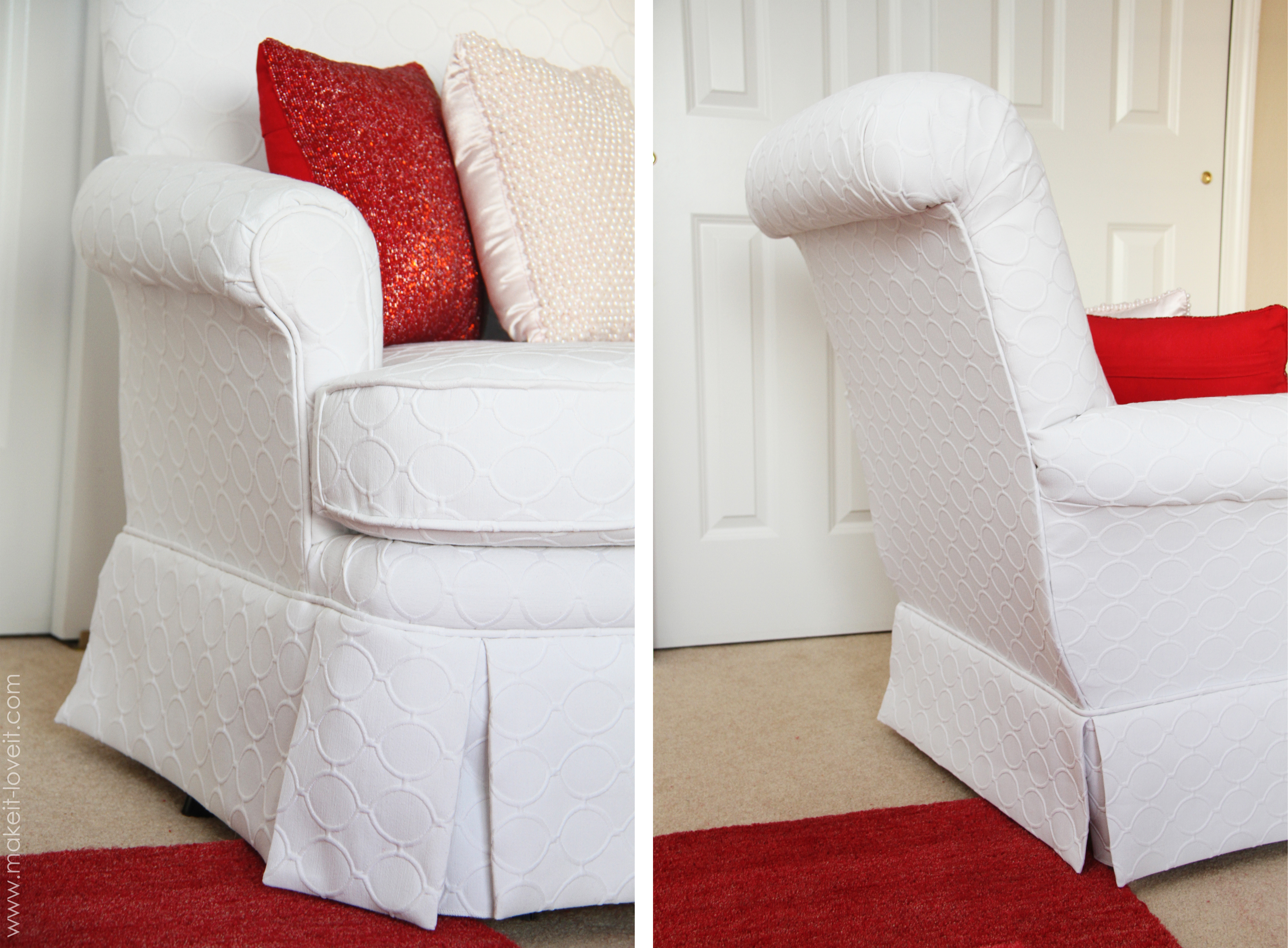 Re upholstering 101 how i re upholstered my swivel - How to reupholster a living room chair ...