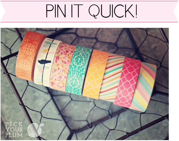 Real quick…50 rolls of washi tape giveaway update: ended