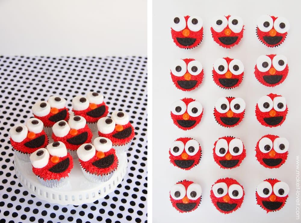 elmo cupcakes2