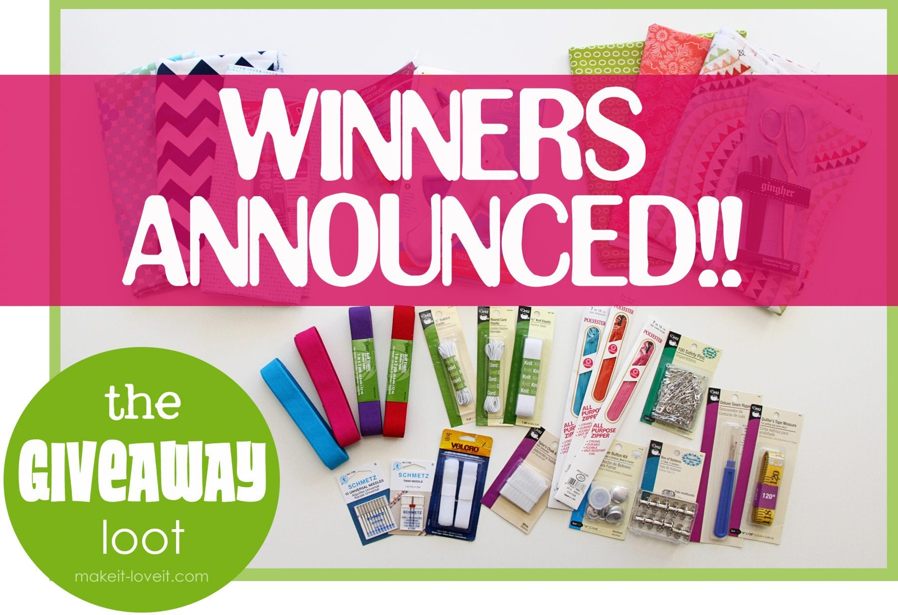 Giveaway winners announced: sewing/crafting tools