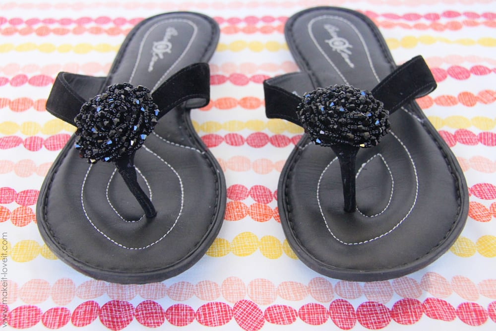 """Flip-flop refashion: from """"blah"""" to """"ahhhhh!!"""""""