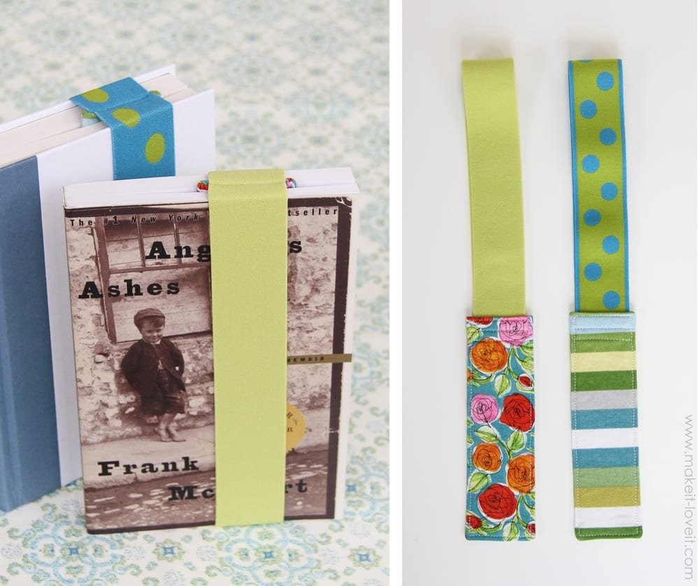 elastic fabric bookmarks