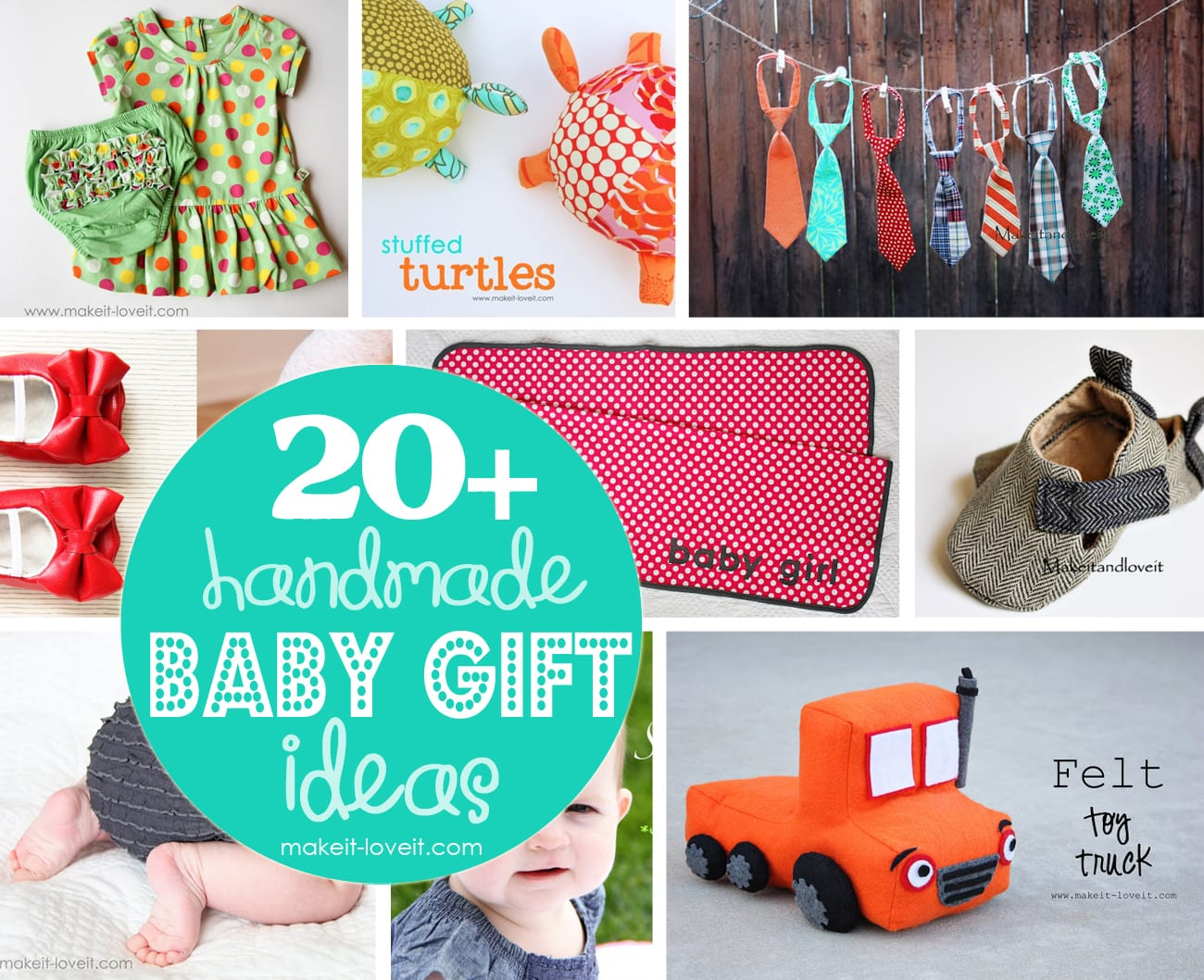 20+ Handmade Craft Ideas for Baby Gifts