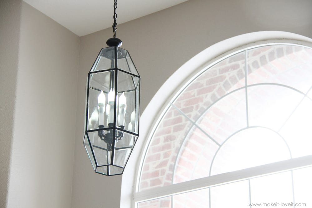 Used Foyer Chandelier : Home improvement how to spray paint old brass light