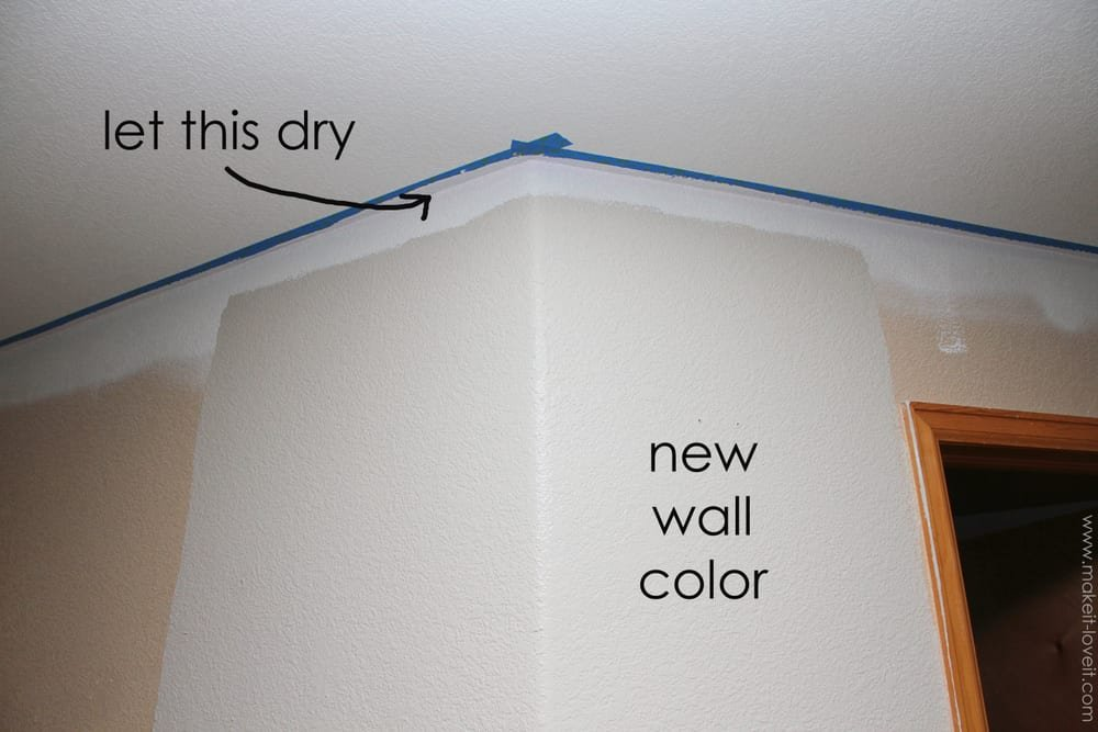 How To Paint Straight Line Between Wall And Ceiling