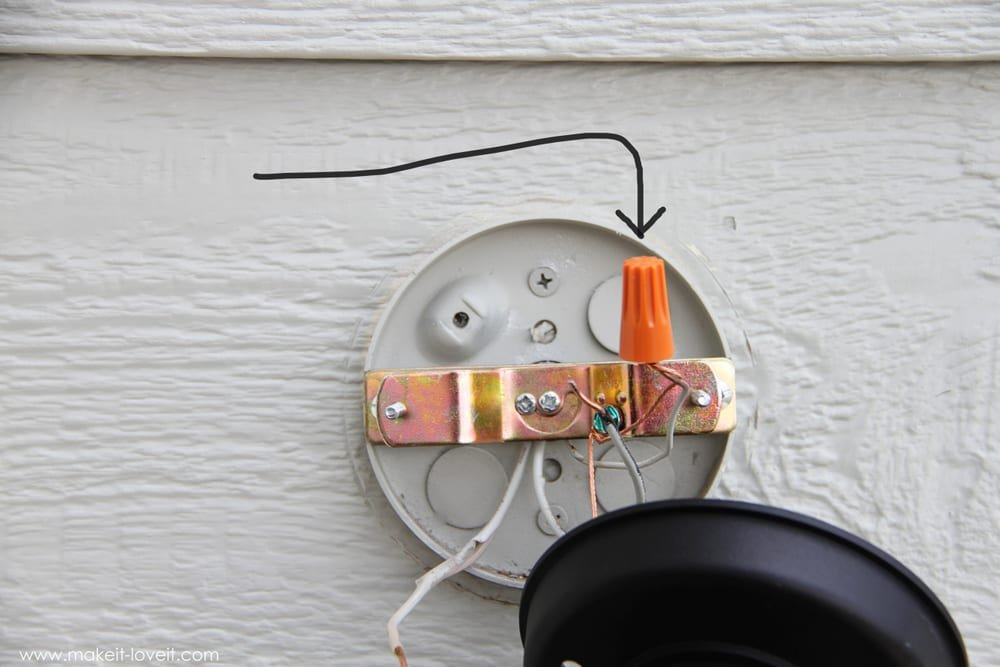 Home improvement replacing outdoor light fixtures don 39 t - Exterior light fixture mounting plate ...