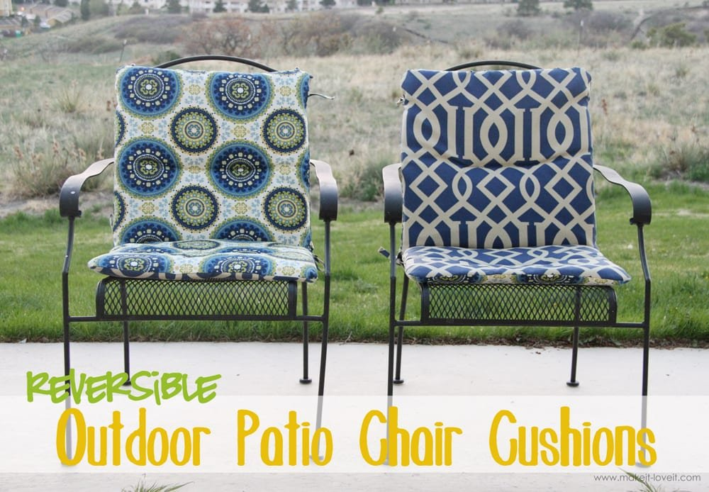 Tremendous Make Your Own Reversible Patio Chair Cushions Make It And Machost Co Dining Chair Design Ideas Machostcouk