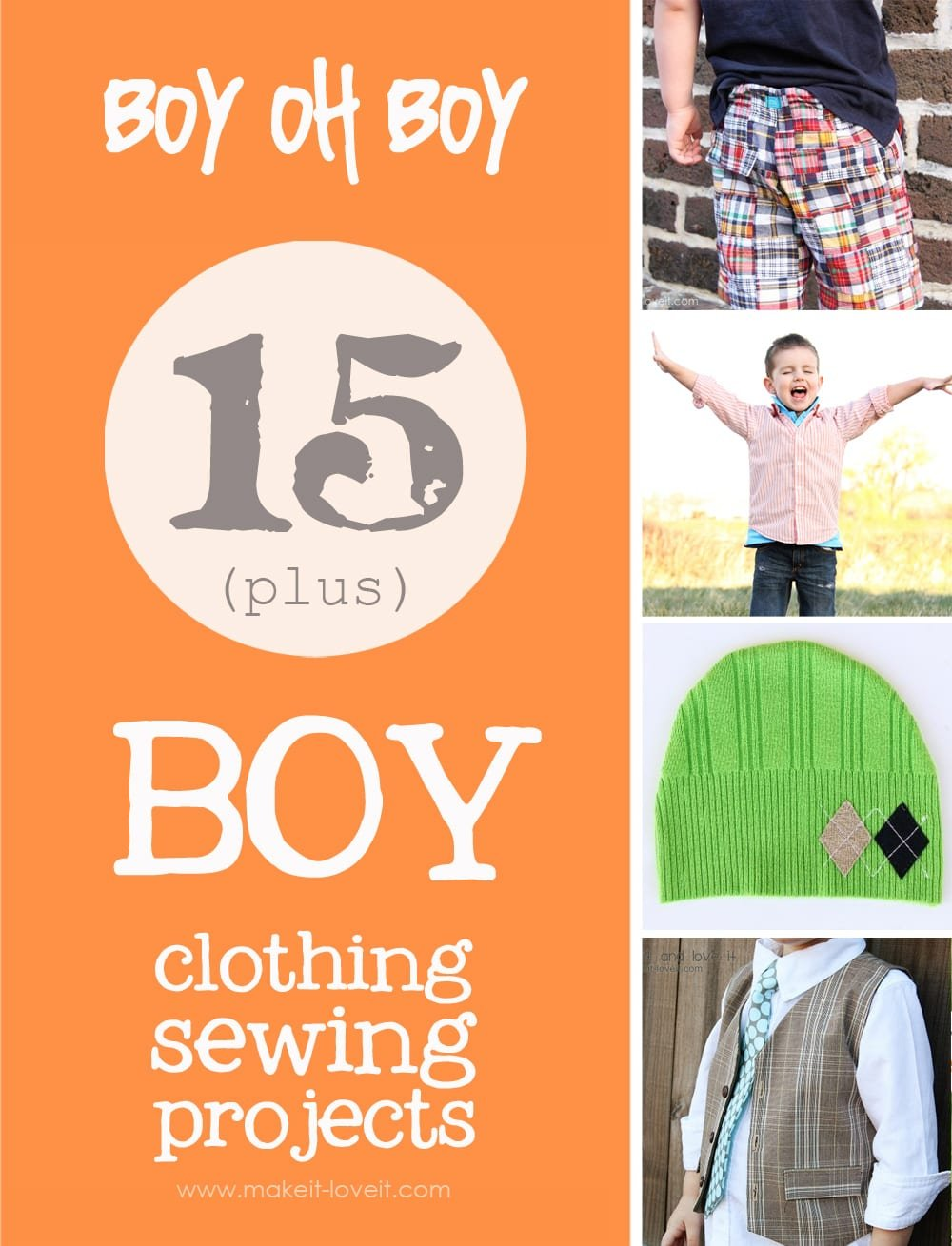 15+ boy clothing sewing projects