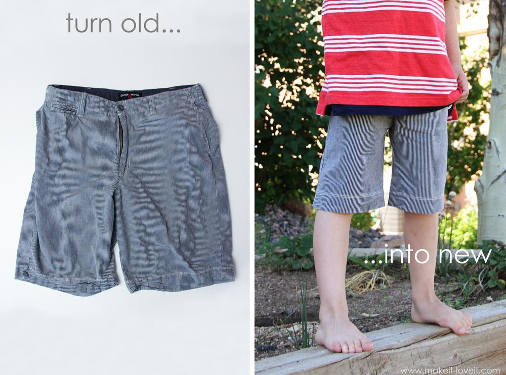 refashion men's shorts
