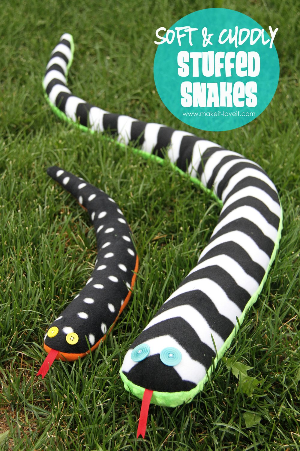 Stuffed Toy Snakes Soft And Cuddly Make It And
