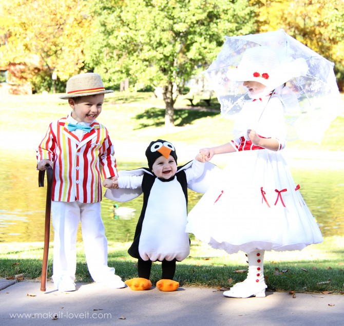 2 mary poppins costumes