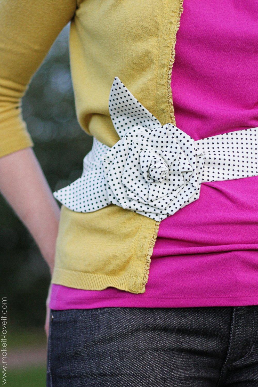 Fabric flower belt……cinch it in!!