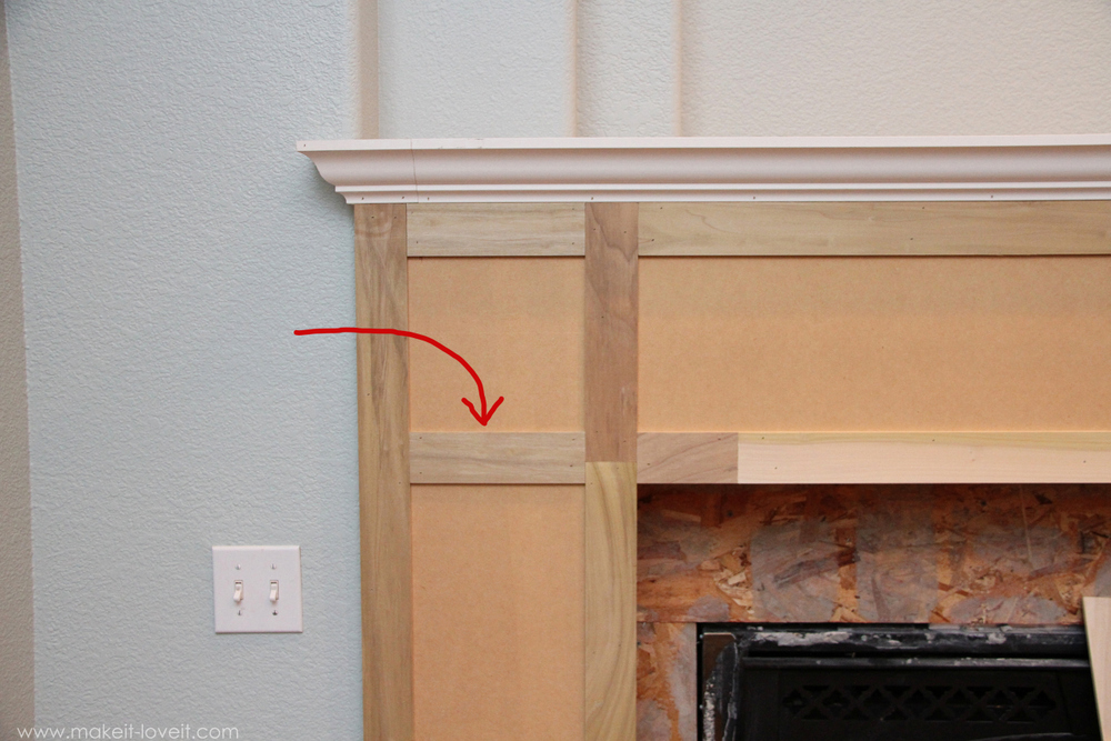 Home improvement build your own fireplace mantel hearth for Craftsman style fireplace mantel plans