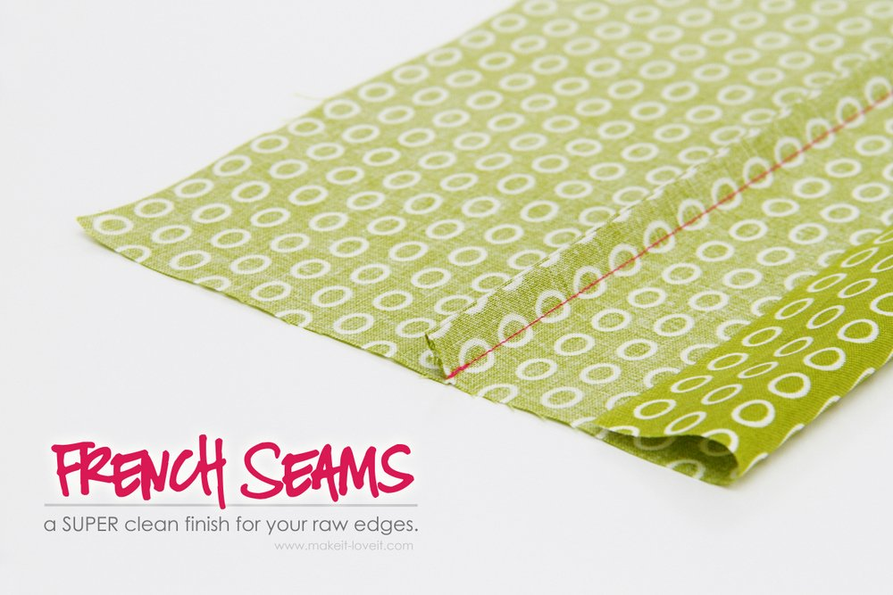 Sewing Tips: French Seams (a clean finish for your raw edges)