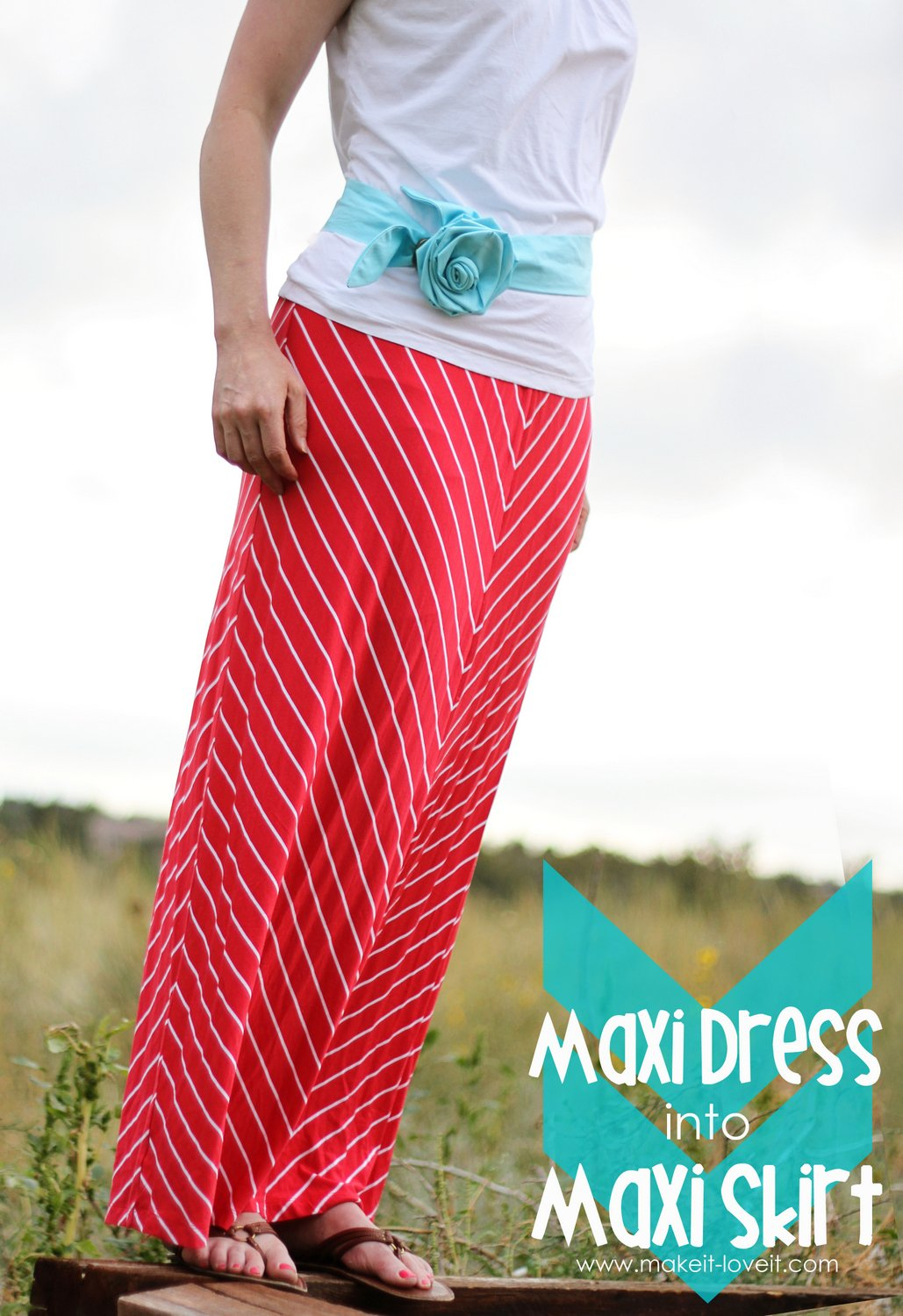 Turn a maxi dress…into a maxi skirt {in minutes!!}