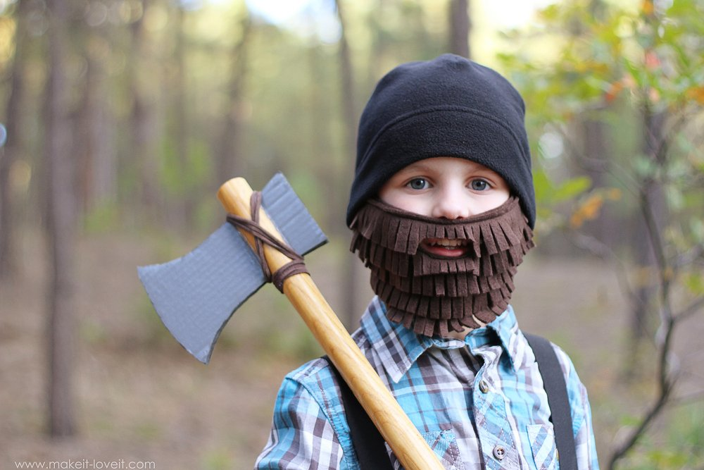 halloween costume ideas lumberjack with beard and axe make it and