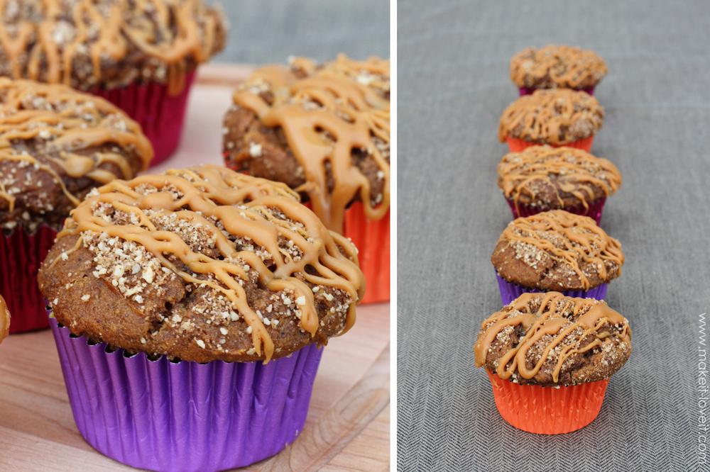 gluten free caramel pumkin muffins