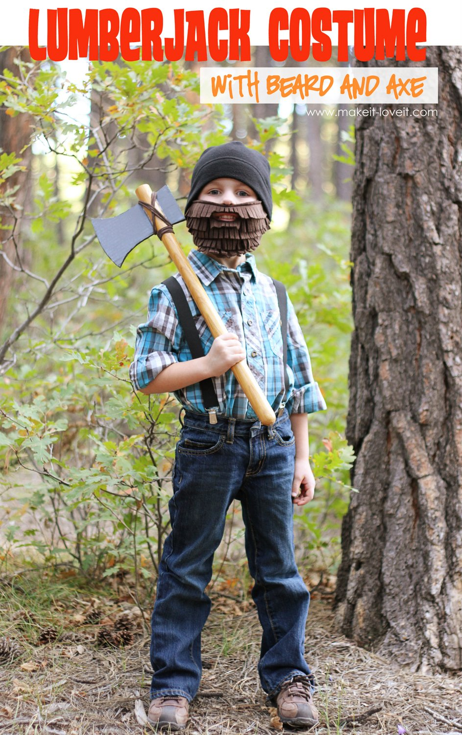 lumberjack costume with beard & Halloween Costume Ideas: Lumberjack with Beard and Axe | Make It and ...
