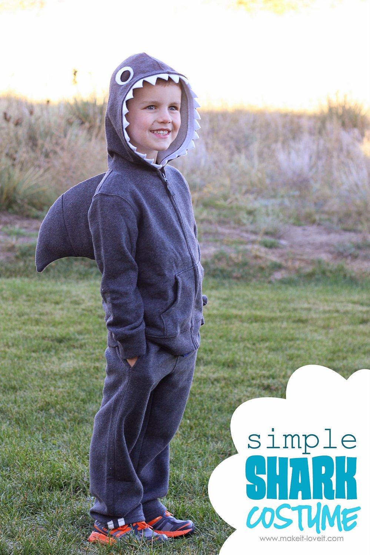 Halloween costume ideas: simple shark (with dorsal fin)