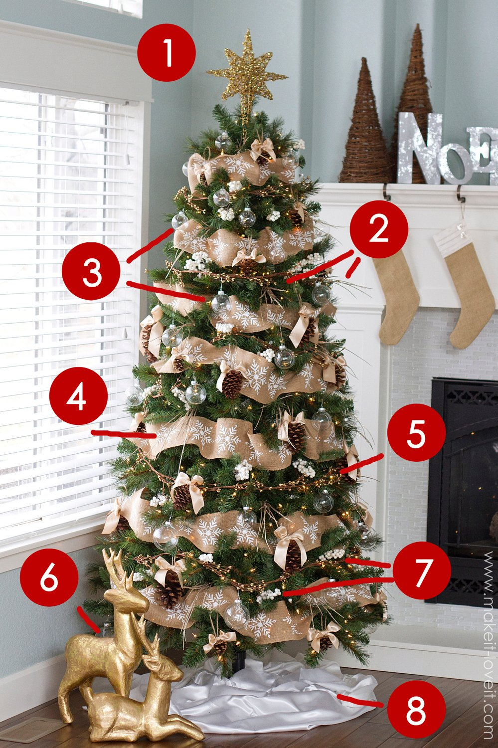 pine cone bow ornament and other dream tree challenge. Black Bedroom Furniture Sets. Home Design Ideas