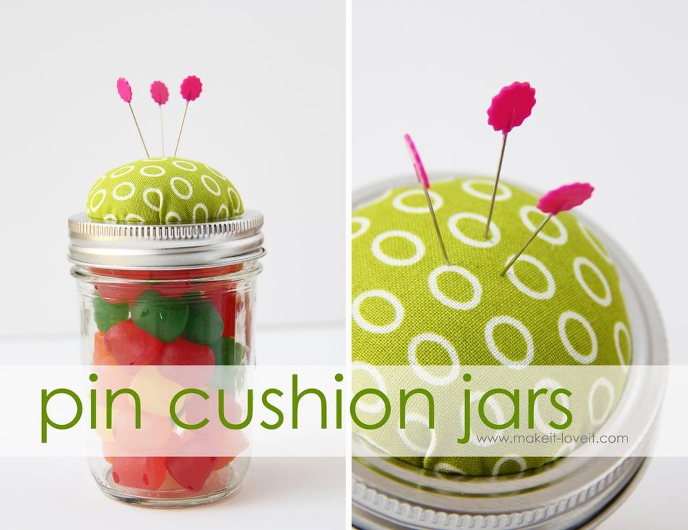 9 pin cushion jars