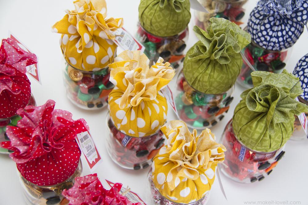 snowman candy jar gift 2