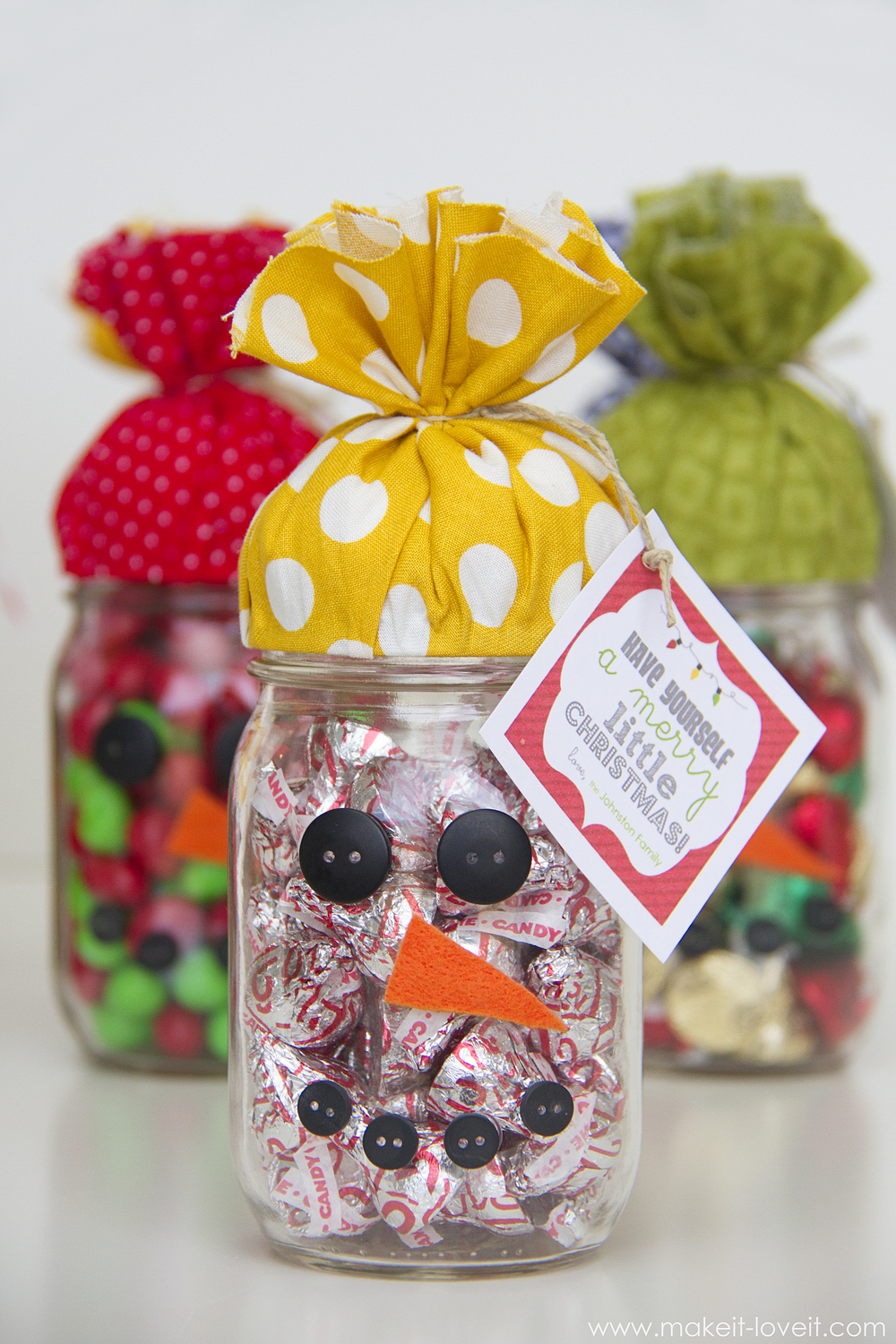 Quick Gift Snowman Candy Jar Plus Free Printable Make It And Love It