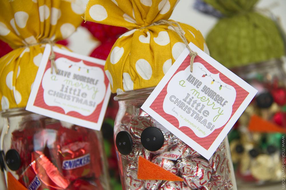 snowman candy jar gift 5