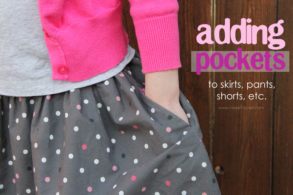 1 Adding pockets to clothing