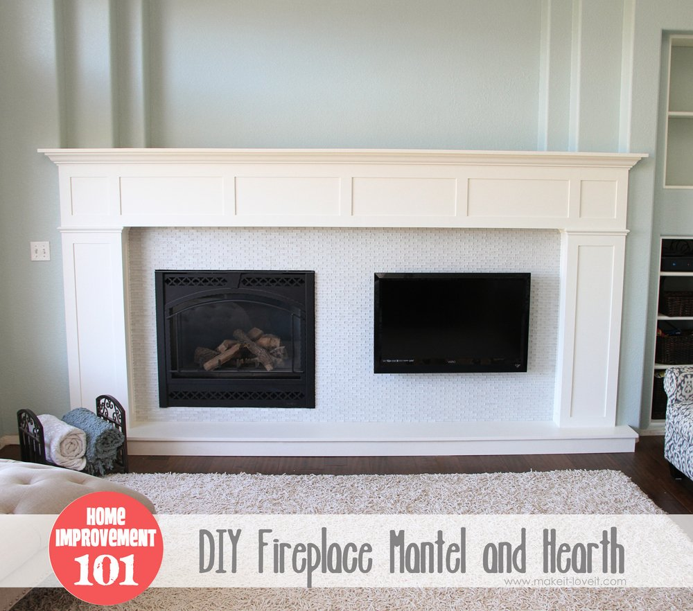 1 DIY Fireplace and Mantel