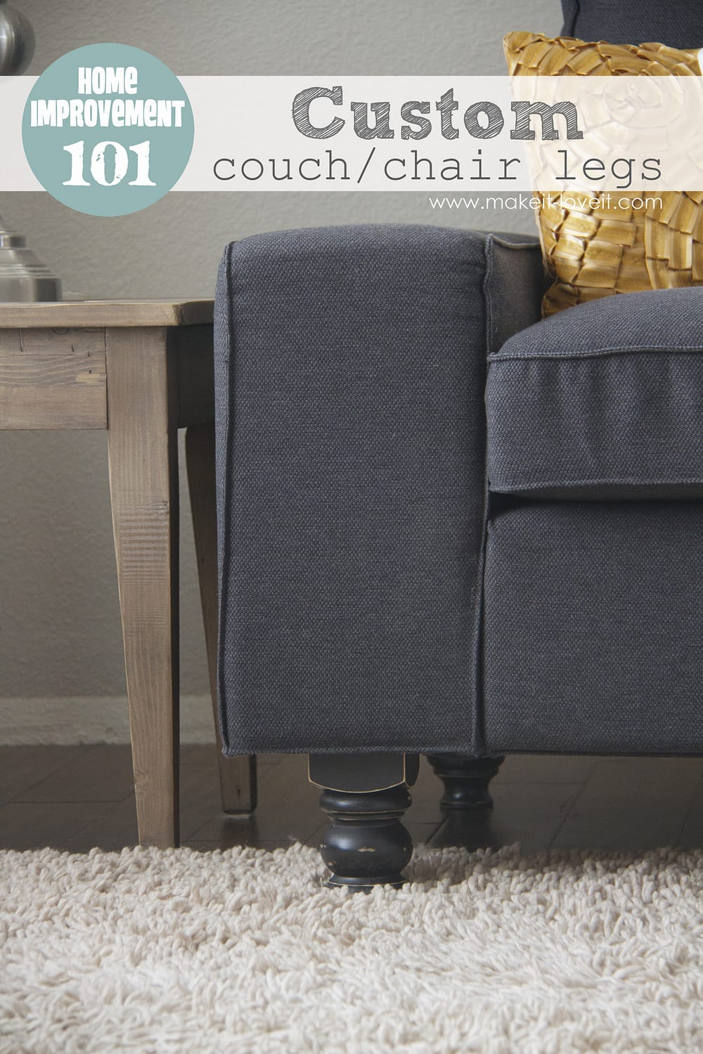 DIY Custom Couch (or Arm Chair) Legs     Make It And Love