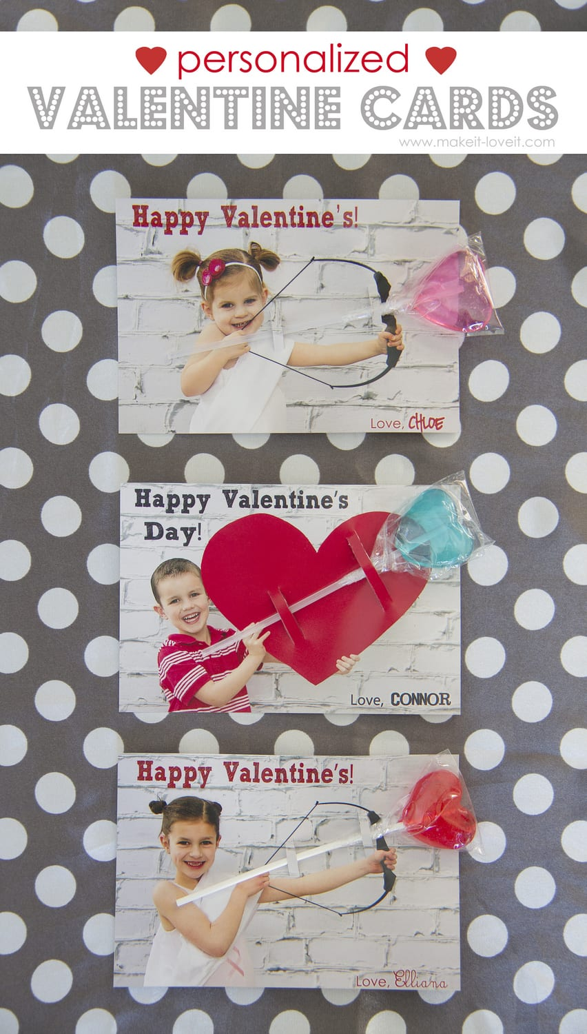 personalized valentine cardswith a little treat make it - Personalized Valentines Day Cards