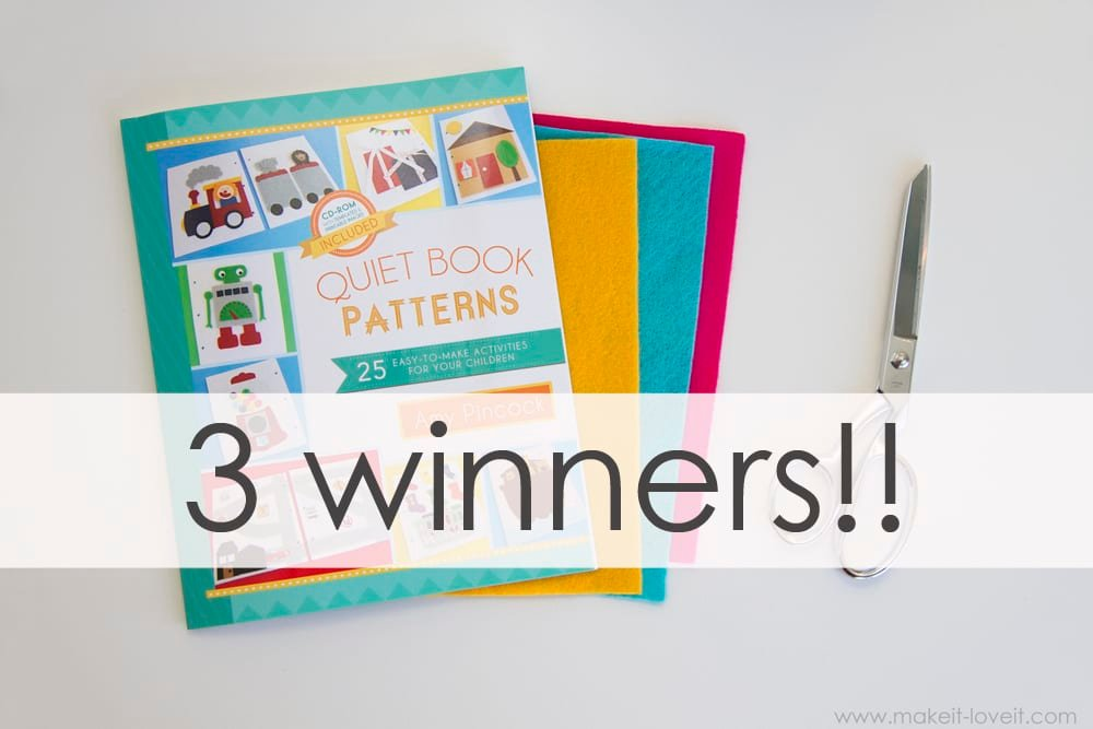 Giveaway Winners (plus a little book-writing update…)