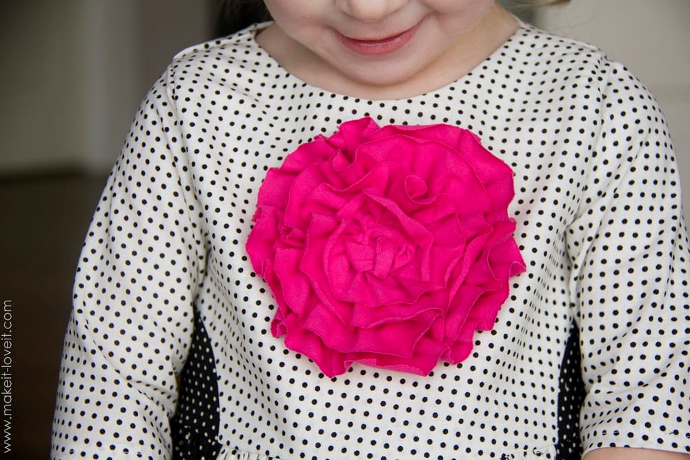Color Block Dress with Front Flower --- Make It and Love It