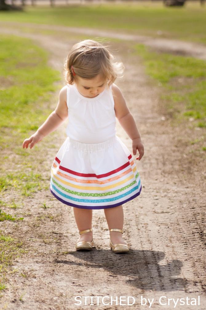Rainbow Bias Tape Skirt (makeit-loveit.com)