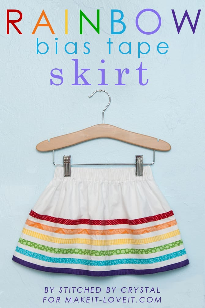 Rainbow bias tape skirt…..perfect for spring!