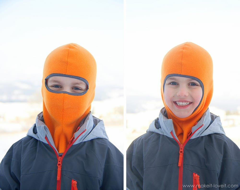 Make your own Balaclava (or ski-type mask)......and stay toasty warm! --- Make It and Love It